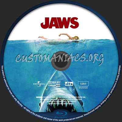 Jaws blu-ray label