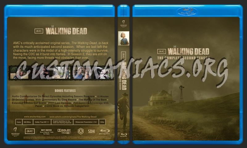 The Walking Dead Season 2 Blu Ray Cover Dvd Covers