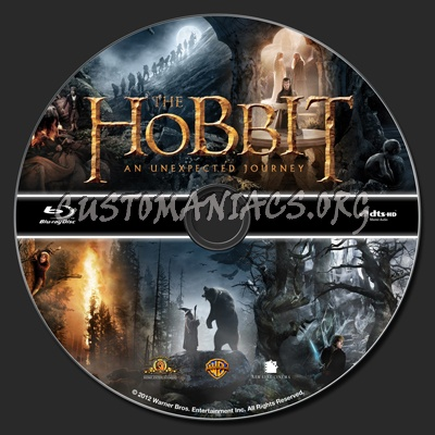 The Hobbit An Unexpected Journey blu-ray label