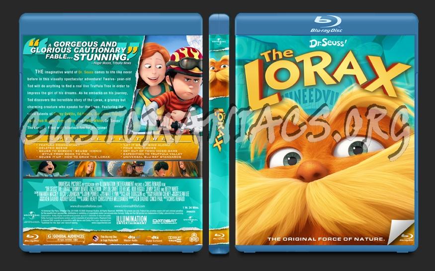 The Lorax blu-ray cover