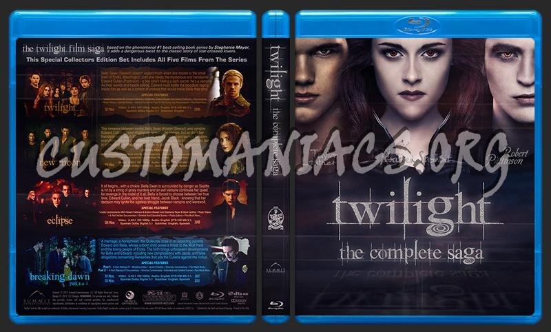 Twilight Saga Blu-ray Cover