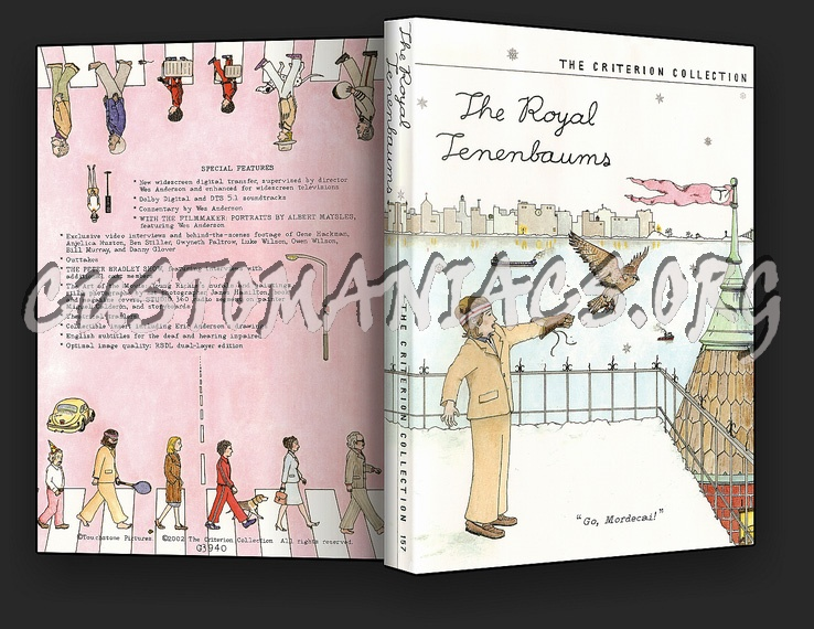 157 - The Royal Tenenbaums dvd cover