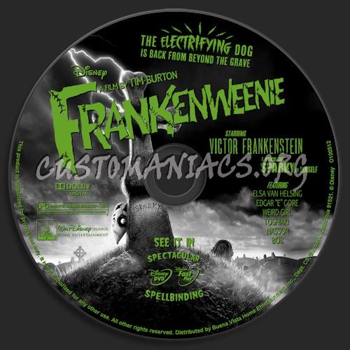 Frankenweenie dvd label