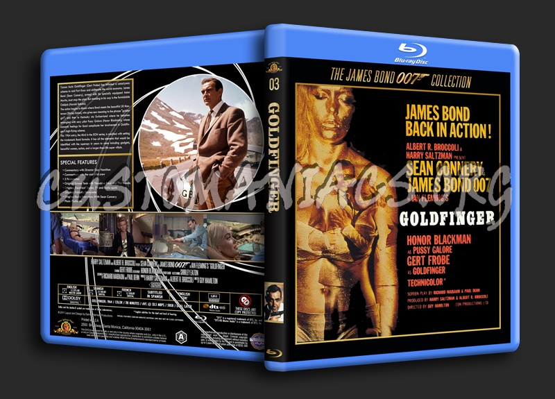 Goldfinger blu-ray cover
