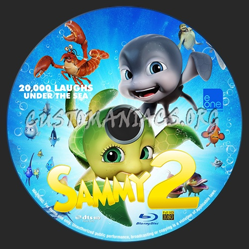Sammy's Adventures 2 blu-ray label