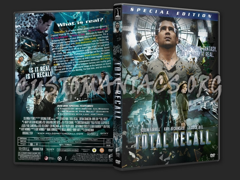 Total Recall (2012) dvd cover
