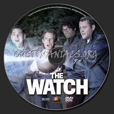 The Watch dvd label
