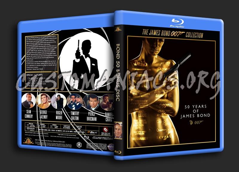 Bond 50 Bonus Disc blu-ray cover