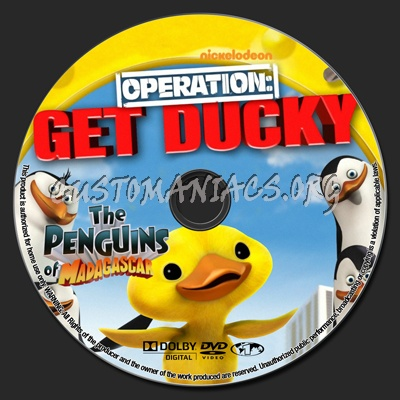 The Penguins Of Madagascar Operation Get Ducky dvd label