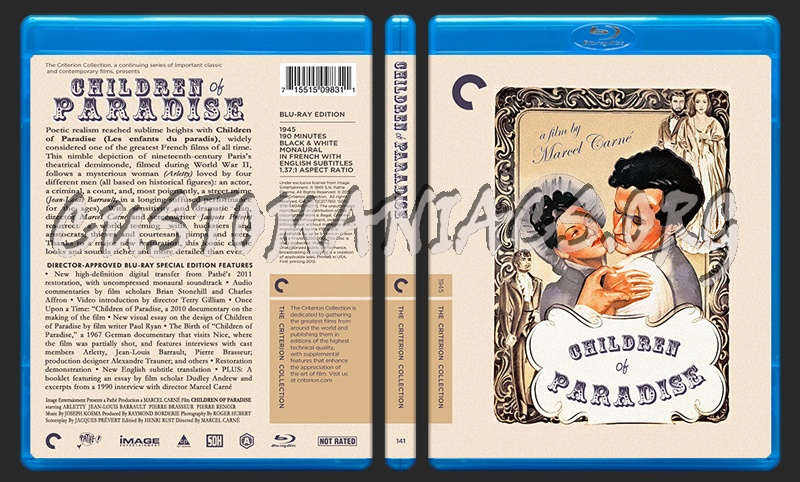 141 - Children of Paradise blu-ray cover