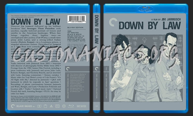 166 - Down By Law blu-ray cover