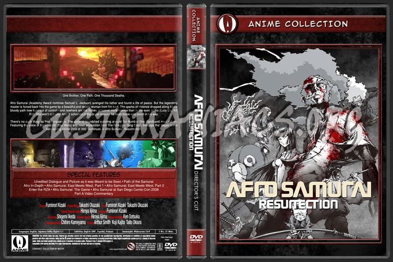 Anime Collection Afro Samurai Resurrection Director's Cut dvd cover