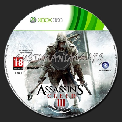 Assassin S Creed 3 Dvd Label Dvd Covers Labels By Customaniacs