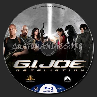 G.I. Joe Retaliation blu-ray label