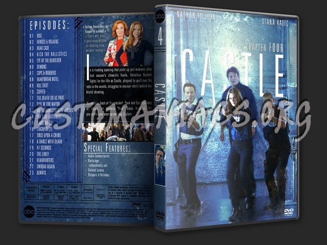 Castle Season 4 dvd cover - DVD Covers & Labels by Customaniacs, id