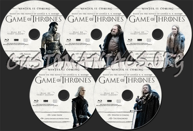Game of Thrones Season 1 blu-ray label