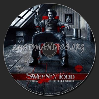 Sweeney Todd dvd label