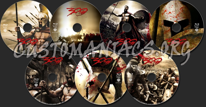 300 blu-ray label