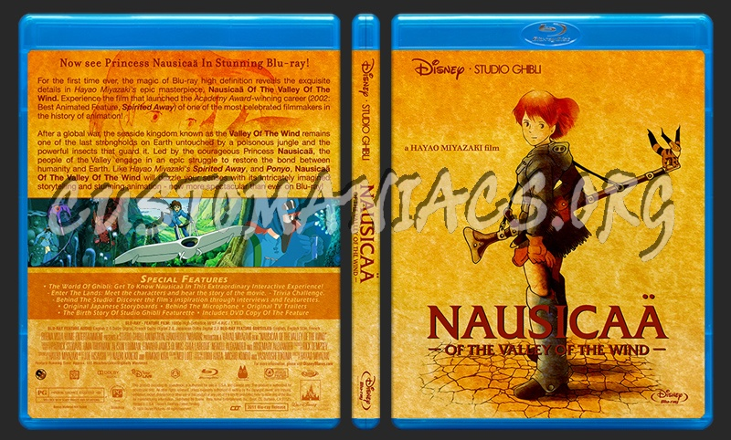 Nausicaa Of The Valley Of The Wind blu-ray cover