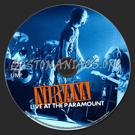 Nirvana: Live at the Paramount blu-ray label