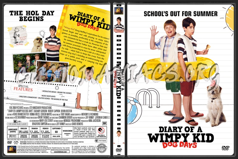 Diary Of A Wimpy Kid Dog Days Dvd Cover Dvd Covers Labels By Customaniacs Id 174182 Free Download Highres Dvd Cover