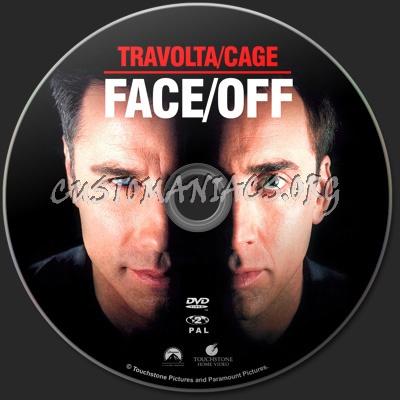Face/Off dvd label