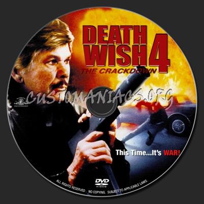 Bronson Death Wish 4 Death Wish 4 1987 Dvd Label