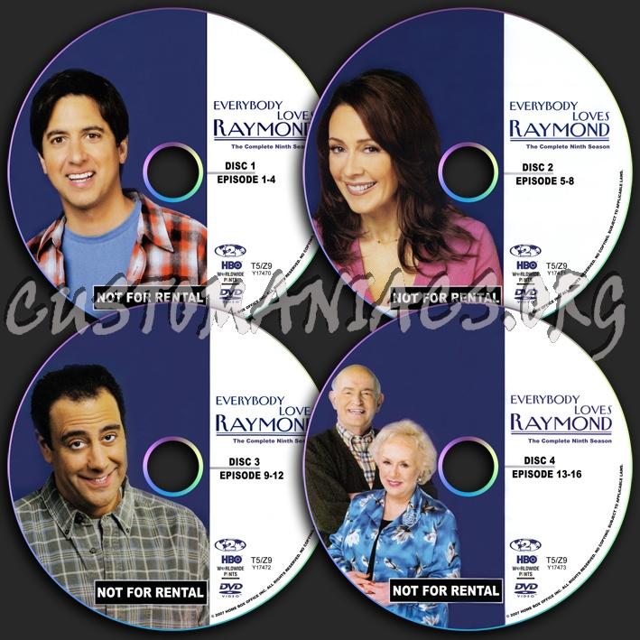 Everybody Loves Raymond Season 9 dvd label
