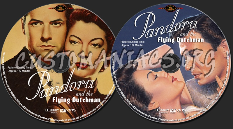 Pandora And The Flying Dutchman dvd label