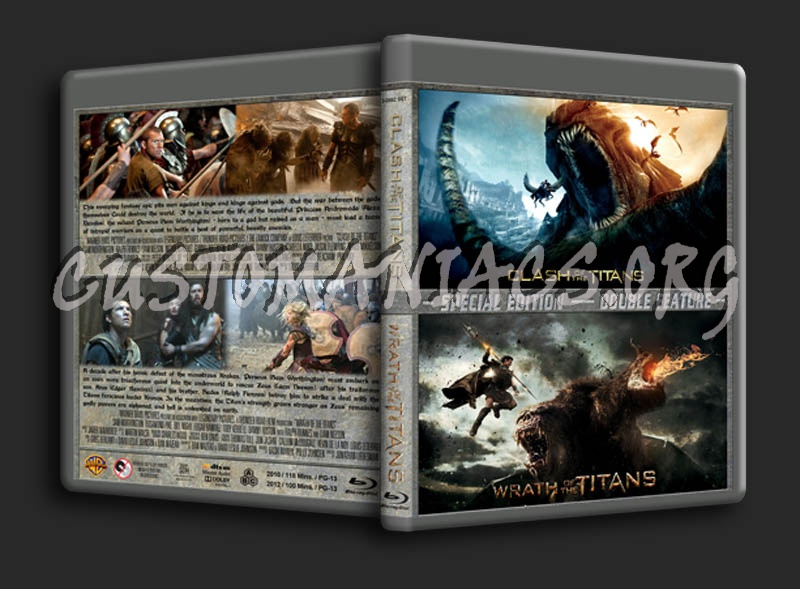 Clash of the Titans / Wrath of the Titans Double blu-ray cover