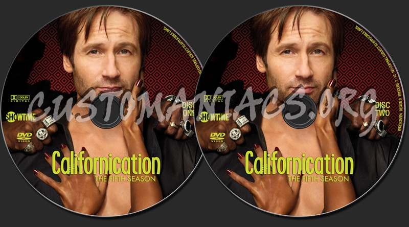 Californication Season 5 dvd label