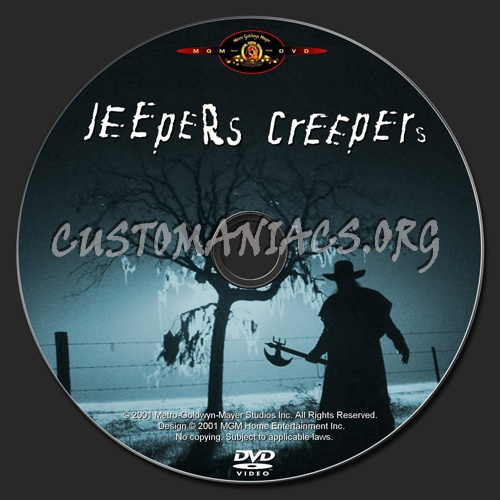 Jeepers Creepers dvd label