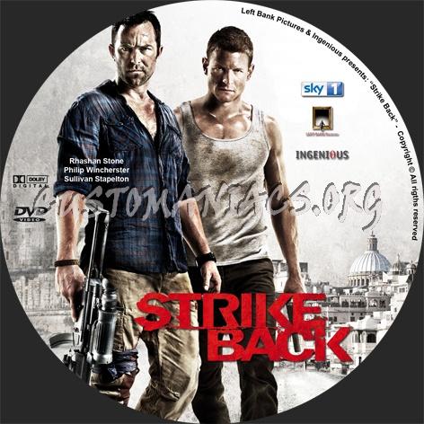 Strike Back dvd label