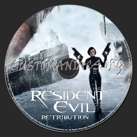 Resident Evil: Retribution dvd label - DVD Covers & Labels by