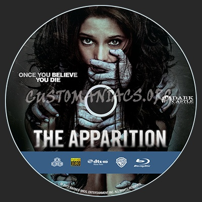 The Apparition blu-ray label