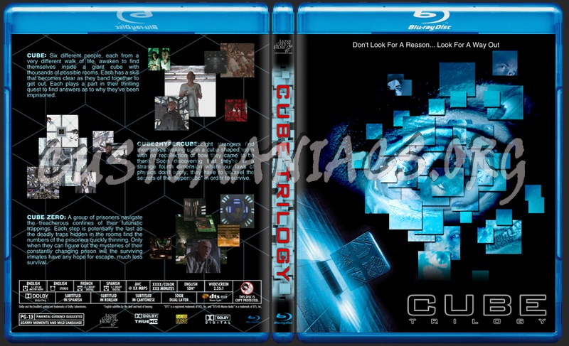 Cube Trilogy blu-ray cover