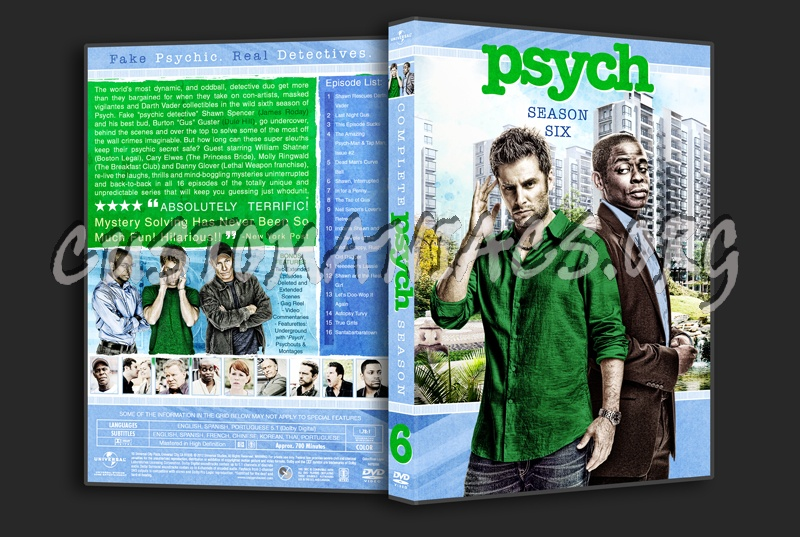Psych Season 6 dvd cover