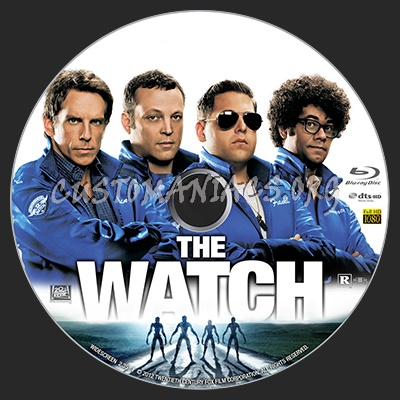 The Watch blu-ray label