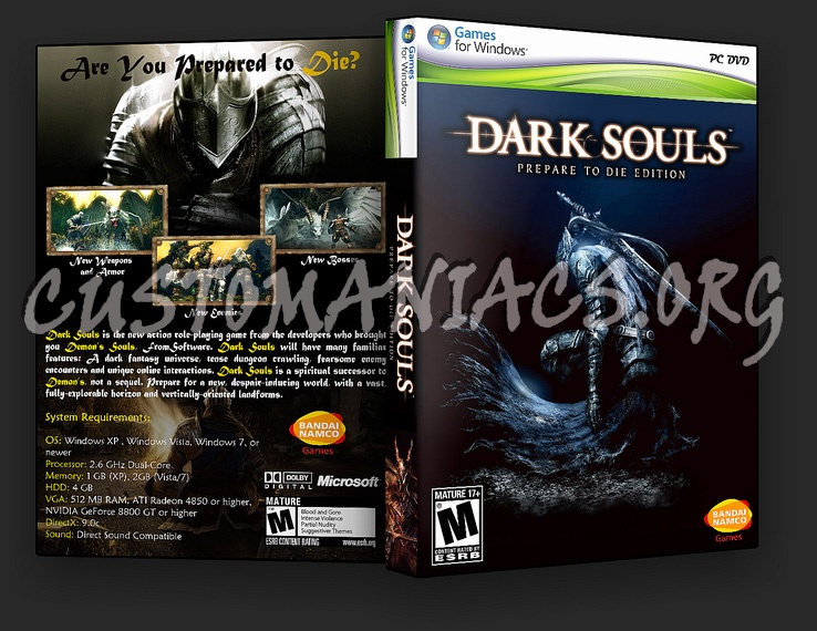 Dark Souls Prepare To Die Edition dvd cover - DVD Covers ...