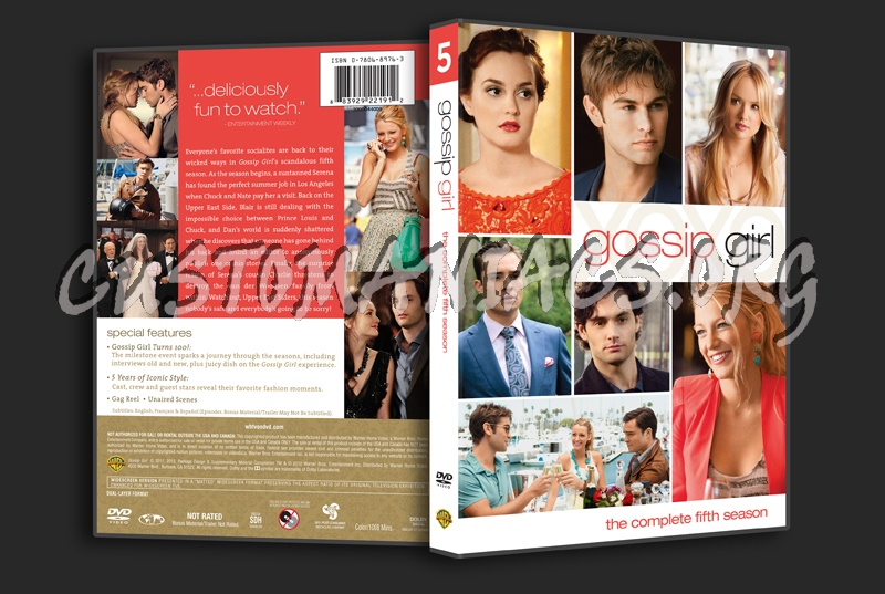 Gossip Girl Season 5 dvd cover