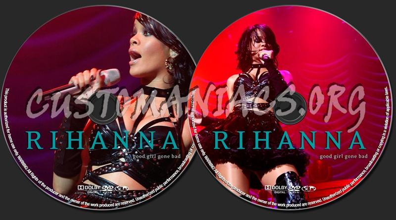 Rihanna Good Girl Gone Bad dvd label