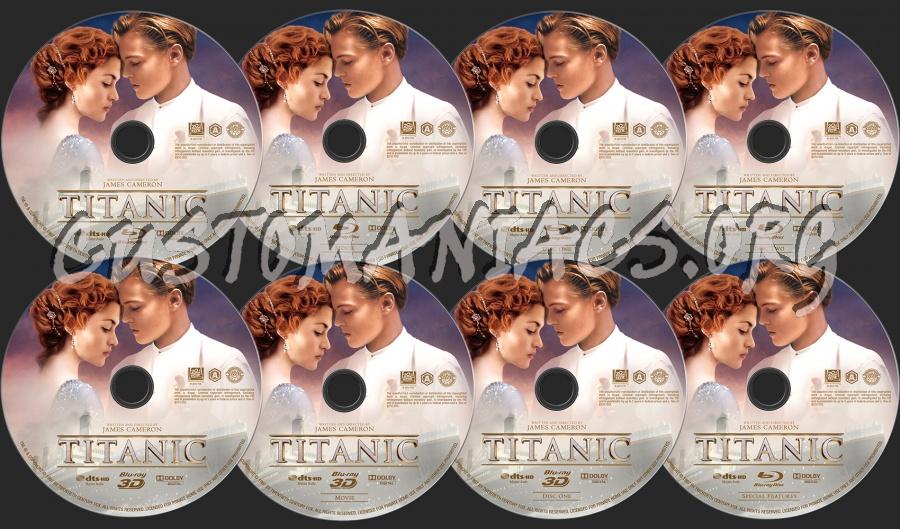 Titanic 2D+3D blu-ray label