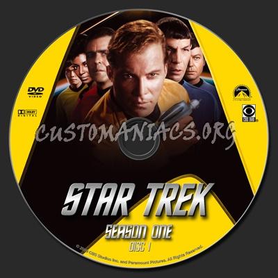 Star Trek TOS Season 1 Remastered dvd label
