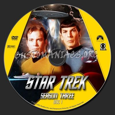 Star Trek TOS Season 3 Remastered dvd label