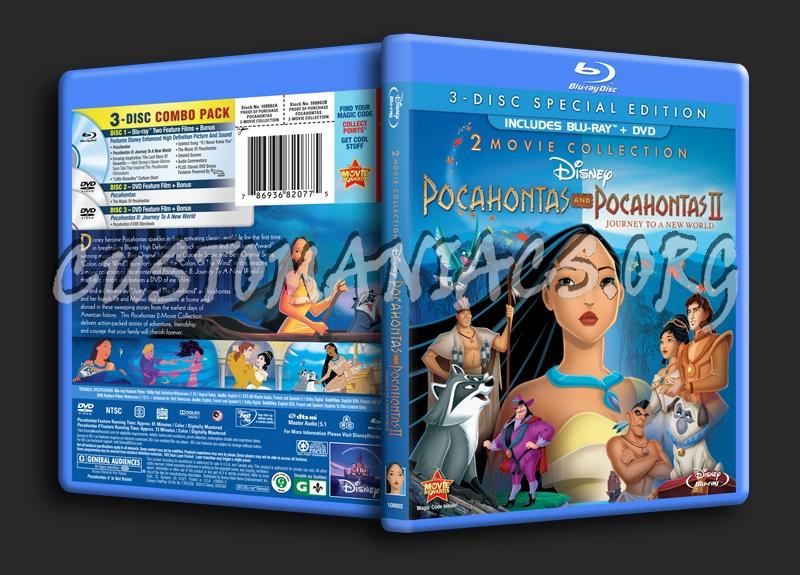 Pocahontas and Pocahontas 2 blu-ray cover