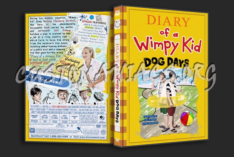 Diary Of A Wimpy Kid Dog Days Dvd Cover Dvd Covers Labels By Customaniacs Id 175177 Free Download Highres Dvd Cover