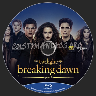 The Twilight Saga - Breaking Dawn Part 2 blu-ray label