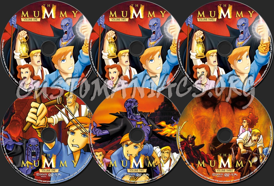 The Mummy Animated Series dvd label