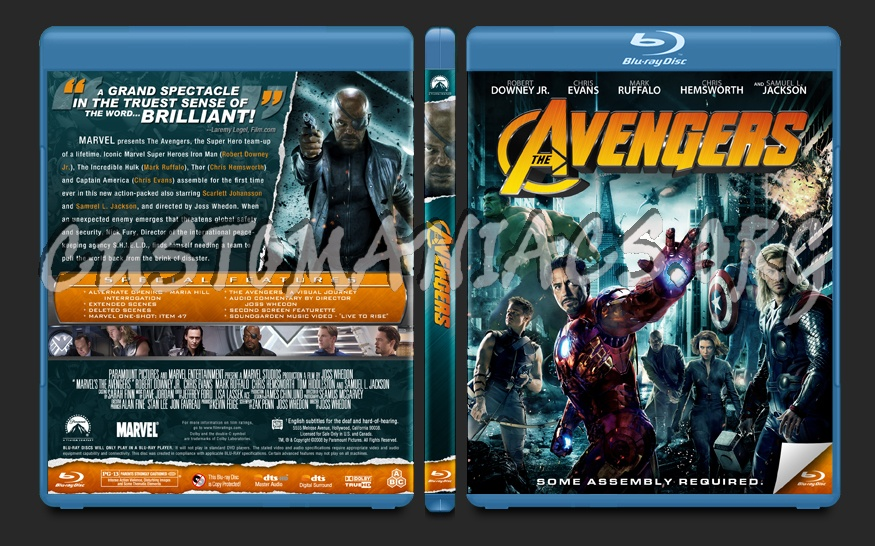 The Avengers blu-ray cover