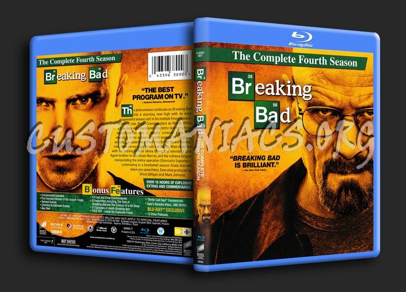 Breaking Bad Season 4 blu-ray cover
